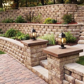 Retaining Walls (wood, stone, or concrete)